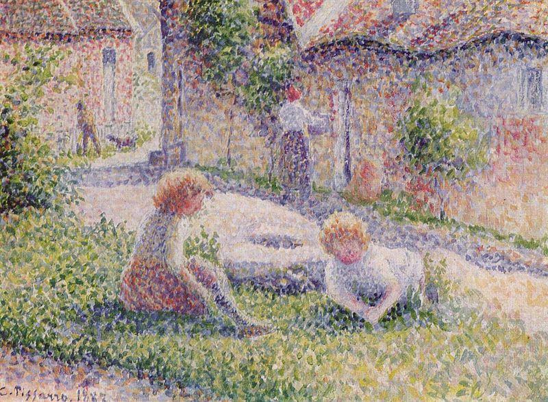 Camille Pissaro - Children in the park, 1887