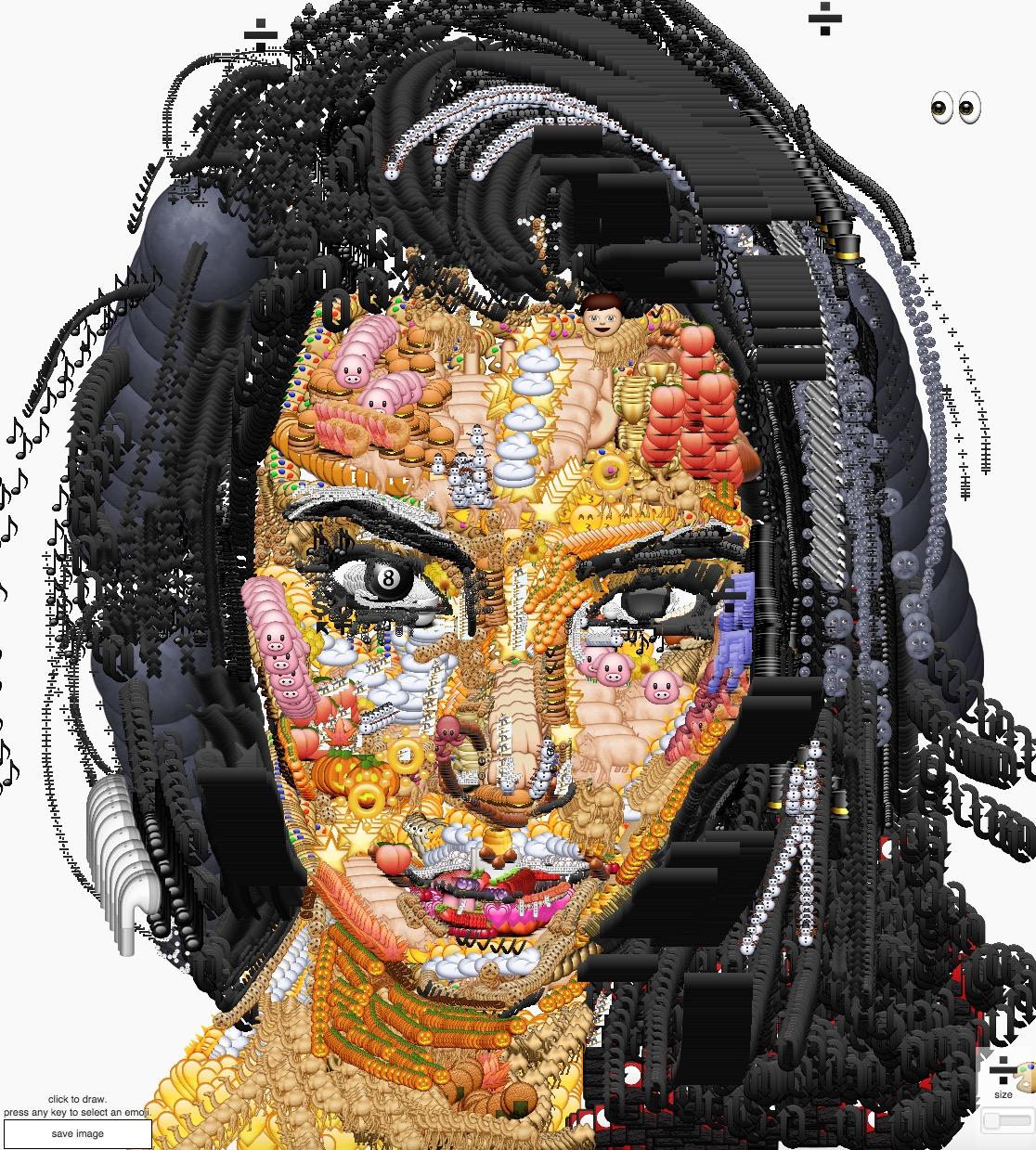 Kim Kardashian - Emoji portrait